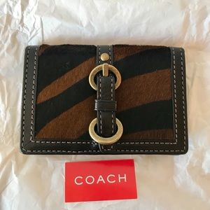 Coach calf hair card holder New